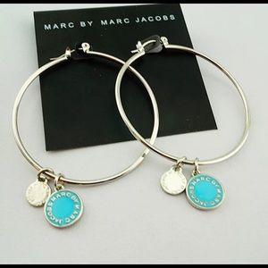 """Marc Jacobs 2"""" Silver Hoop Earrings"""
